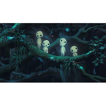 Princess Mononoke Mini Luminous Tree Elves / Micro Landscape Cute Resin