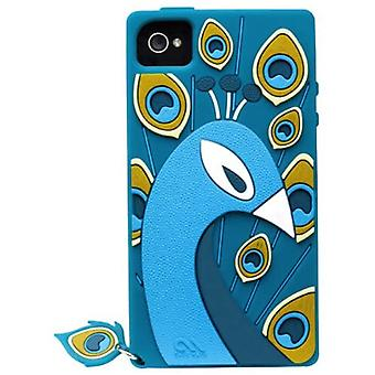 Olo by Case-Mate Peacock Silicone Case for iPhone 4 / 4S - Teal