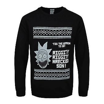 Rick And Morty Adultes Unisexes Tis The Season Crewneck Sweatshirt