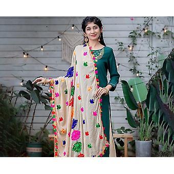Indien ethnische Stile Lady bestickt Saree Chiffon Schal & Frau Hijab Schal