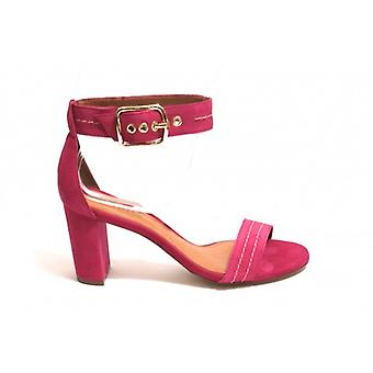 Women's Shoes Dixie Sandal with Heel Tc 70 Suede Col. Fuxia Ds18di02