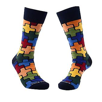 Colorful Puzzle Pattern Socks