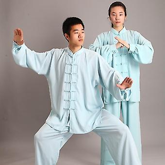 Perinteinen kiinalainen vaatetus, 14 väri pitkähihainen Wushu Taichi Men Kungfu
