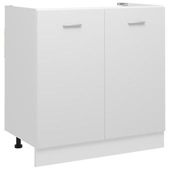 Sink Bottom Cabinet White 80x46x81.5 Cm Chipboard
