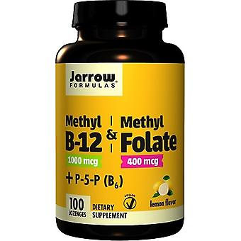 Jarrow Formulas Methyl B12 & Methyl Folate 400 mg Lemon 100 Tabletten