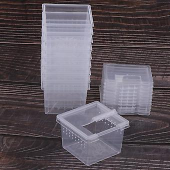 Rearing Food Feeding Box Reptile Cage Hatching Container Tank Clear Vivarium
