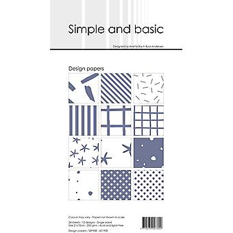 Simple and Basic Eggplant Slim Paper Pack