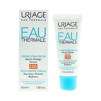 Uriage Eau Thermale Rich Water Cream 40ml SPF 20 Dry To Very Dry Skin