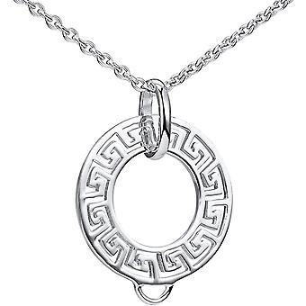 MATERIA Charm Trger 925 Sterling Silber rhodiniert Carrier Anhnger keltisch rund wahlweise mit Kette