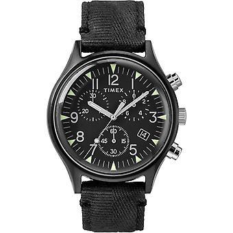 Timex MK1 Stål militär stil Tyg Kronograf Mens Watch TW2R68700