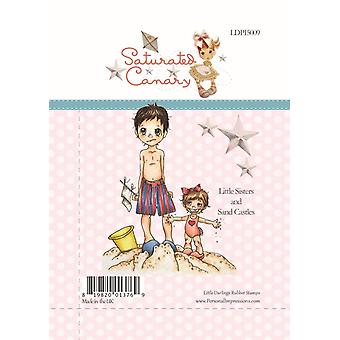 Little Darlings Little Sister and Sand Castle - Clear Stamps