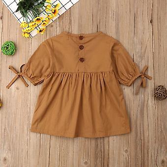 Малыш новорожденный Baby платье, Винтаж Половина платья