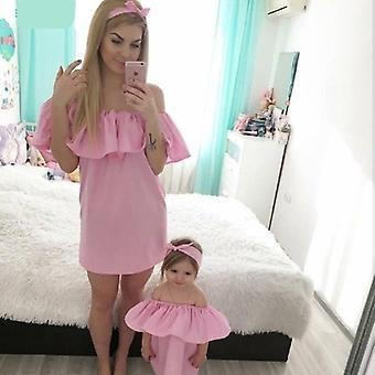 Family Matching Outfits Clothes, Mom And Daughter Dress