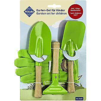 HanFei GAR1 Garten-Set fr Kinder, 2 Schaufeln, 1 Harke, 1 Paar Handschuhe, fr Gartenarbeit