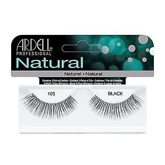 Ardell Natural 105 Black Easy To Apply Full False Eye Lashes