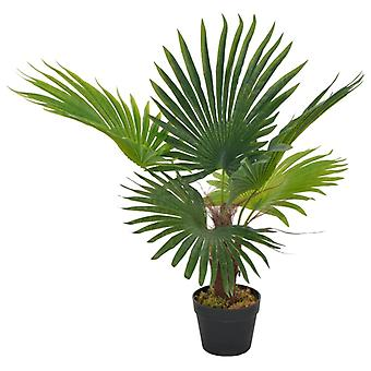 vidaXL الاصطناعي النخيل النبات مع وعاء أخضر 70 سم