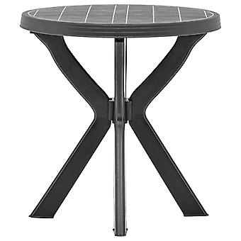 vidaXL bistro bord antracit Ø70 cm plast