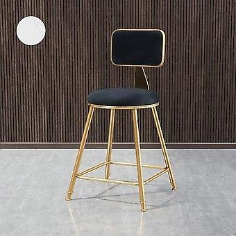 Golden Iron Metal Casting High Footstool Luxury Sexy Bar Chair Stool For Home