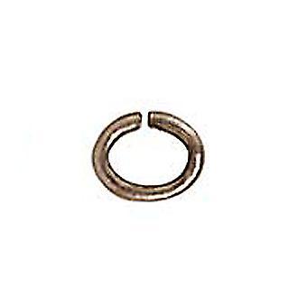 TierraCast Rhodium Verguld Messing Oval Jump Ringen 4mm 20 Gauge (50)