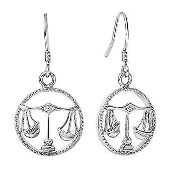 Zodiac sign of water earrings man, woman, handmade earrings with zodiac sign Autiga earrings, metal base, Ref. 4058433111257