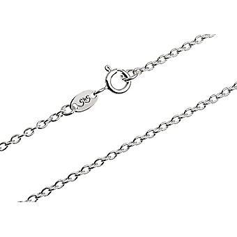Corrente de colar de prata de 2 mm de largura - prata real 925, comprimento de escolha de 38 - 100 cm, prata, bacalhau. Erbse2/(9)