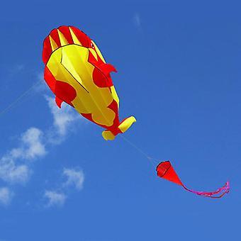 Kite Whale Dolphin Frameless Flying Kite Outdoor Sports Toy.