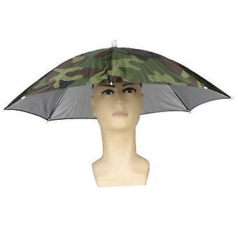 Kopfmontierter 30cm Sonnenschirm, Sonnenschirm im Freien Tarnung Fischerschirm