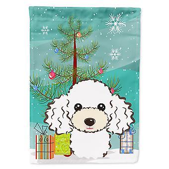 Caroline's Treasures Bb1629Socibero di Natale e bandiera della casa in tela di baroschi bianchi, grande, multicolore