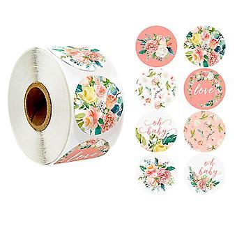500 adesivi adesivi - Motivo grazie - Fiori