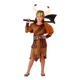 Kostüm für Kinder 114869 weibliche Wikinger braun (4 Stk)