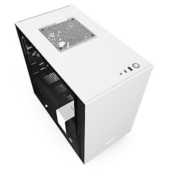 NZXT H210i Mini-ITX RGB Gaming Case - White Tempered Glass