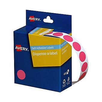 Avery Dispenser Pink 14Mm Roll 1050