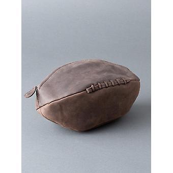 Hunter Rugby Ball in pelle lavare Bag in cioccolato