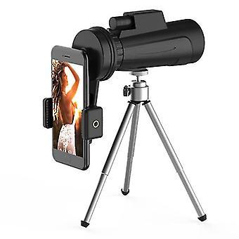 IPRee 12X50 Monocular HD Full Optic BAK4 Lens Day Night Vision Waterproof Telescope+Phone Holder+Tri