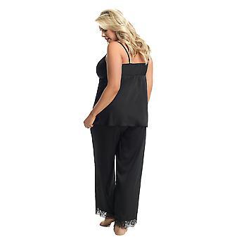 Gorsenia Good Night K600 Women's Black Embroidered Pyjama Set