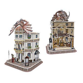 Harry Potter Diagon Alley Gringotts Bank 3D Model  Jigsaw Puzzle
