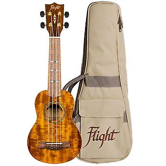 Fly: Dus445 Soprano Acacia Ukulele (med taske)
