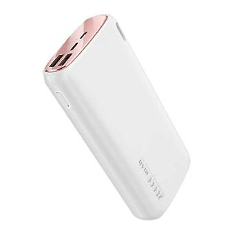 Kuulaa Powerbank 20.000mAh - 2.1A with 2 USB Ports - External Emergency Battery Charger Charger White