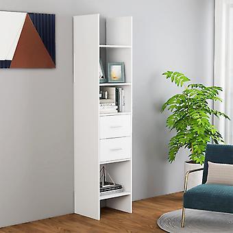 vidaXL bibliothèque blanc 40x35x180 cm panneau de particules