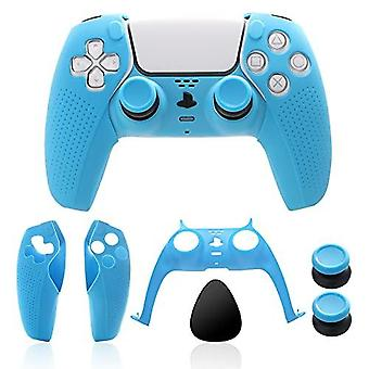 Ps5 Controller Accessories, Ps5 Controller Skin, Ps5 Controller Plate And Ps5 Thumb Grips - Light Blue