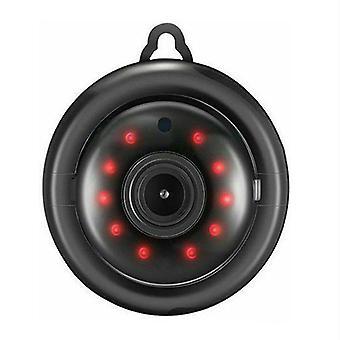 1080P Bezdrôtová WiFi CCTV vnútorná / vonkajšia HD Min IR bezpečnostná domáca kamera (Balck)