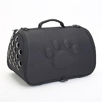 Katzen und Hunde gehen aus tragbare atmungsaktive faltbare EVA Pet Tasche, Größe: 43×25×26cm(Schwarz)