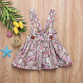Floral Printing Tutu Skirt With Suspender Newborn Party Clothes