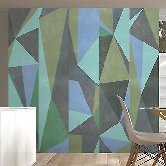 Papier peint - Triangles gris