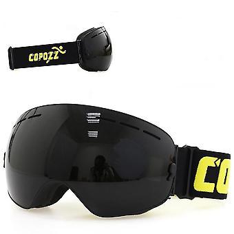 Occhiali polarizzati rivestiti a specchio con protezione Uv400 a doppio strato (nero opaco)