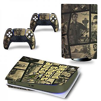 Ps5 Disk Edition Console And Controllers Skin Sticker - Grand Theft Auto V