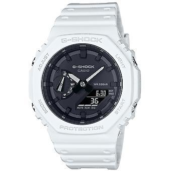 G-Shock Ga-2100-7aer Casioak Octagon White & Black Unisex Watch