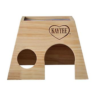 """Kaytee Woodland Get A Way House - Large Guinea Pig (10""""L x 9""""W x 7""""H)"""