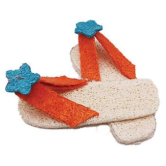 AE Cage Company Nibbles Flip Flops Loofah Chew Toy - 2 count