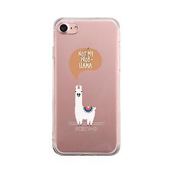 ない私 Probllama 透明な携帯電話ケースかわいいクリア Phonecase